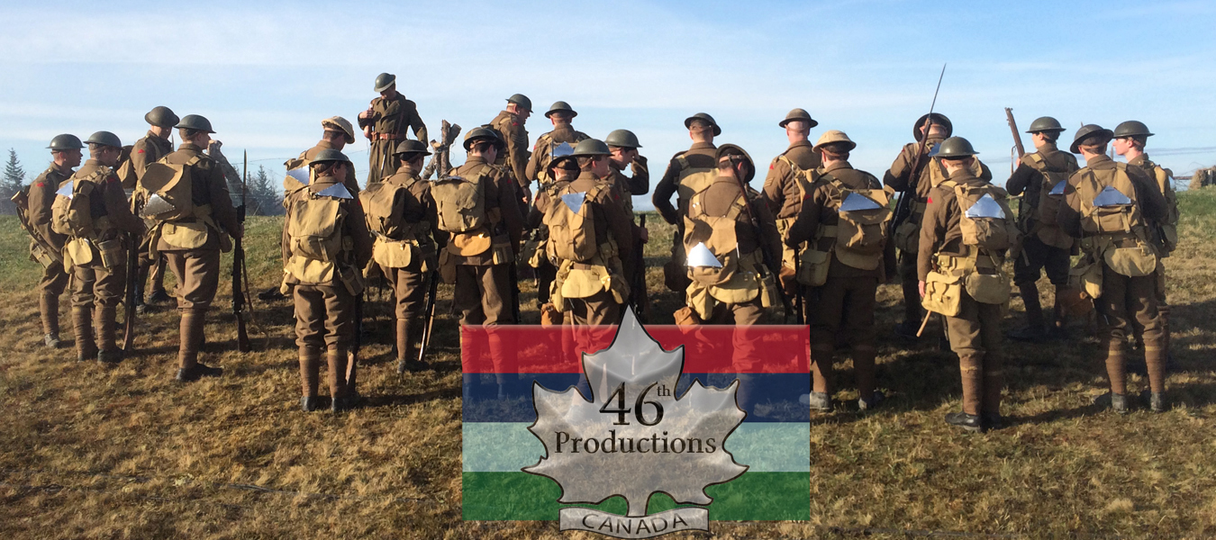 Complete Canadian War One uniforms,field equipment and gear available for hire.